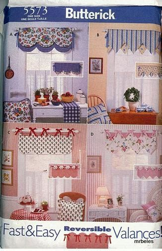 sewing patterns for home decor oop butterick sewing pattern window treatment home d 233 cor