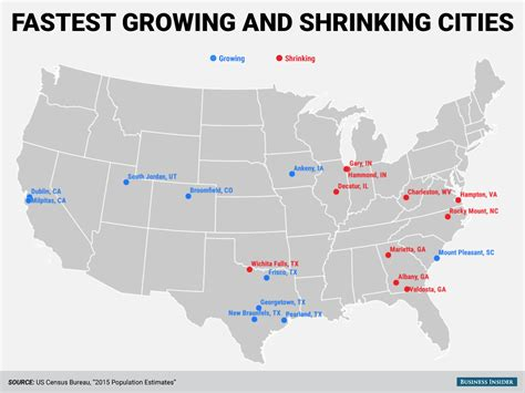 how many towns are in the us census bureau city population change map business insider