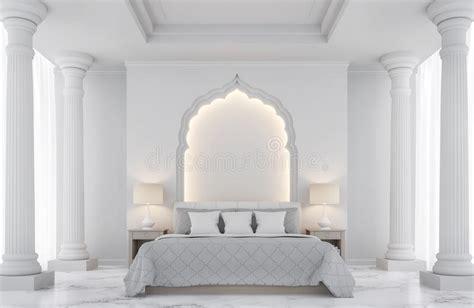 white luxury bedroom interior download 3d house luxury white bedroom 3d rendering image stock illustration