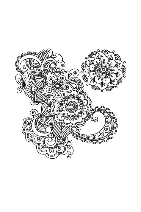 henna pattern vector stock vector hand drawn abstract henna mehndi abstract