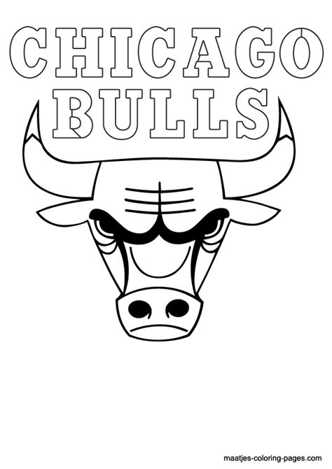 chicago bulls free coloring pages