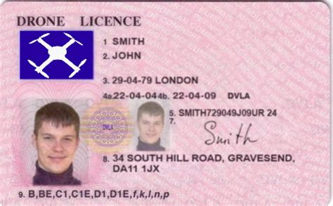 uk id template drone license inside fpv