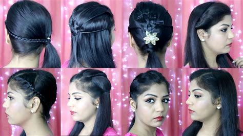 4 quick and easy hairstyles indian party heatless hairstyles superprincessjo youtube