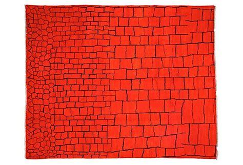 10 x9 rug 8 x9 10 quot buldan rug tangerine on onekingslane