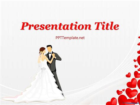 Free Wedding Dance Ppt Template Powerpoint Wedding Templates
