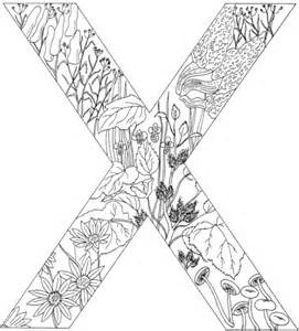 coloring pages for x letter x with plants coloring page free printable