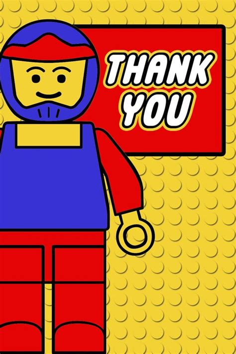 printable lego birthday thank you cards 9 best images of printable lego thank you free printable