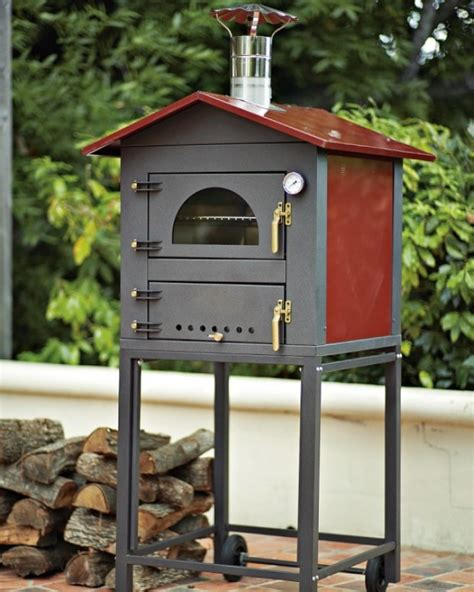 Backyard Wood Fired Pizza Oven by High Low Wood Fired Outdoor Pizza Oven Lifestyles