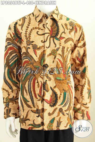 Baju Batik Kombi Burung baju batik hem lengan panjang motif burung