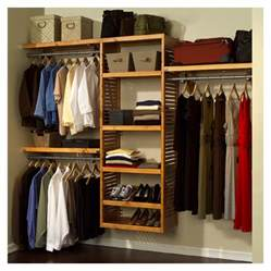 Wood Closet Organizer Systems by Louis Home Wood Closet Organizer System Deluxe Maple