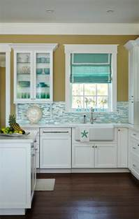 Turquoise Kitchen Decor Ideas beach house kitchen with turquoise decor home bunch