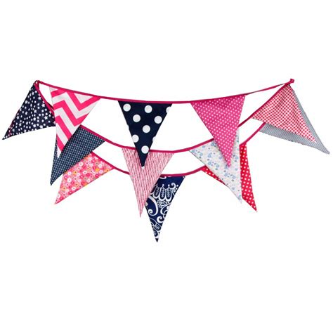 Bunting Flag Bunting Flag Bunting Flag Murah Banner Murah 12 flags 3 6m big size colorful quality cotton fabric banner bunting flag birthday