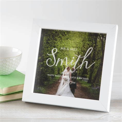 Wedding Box Frame by Personalised Wedding Anniversary Photo Box Frame By Twenty
