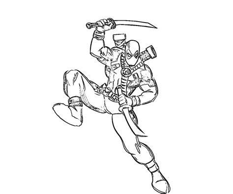 small deadpool coloring coloring pages