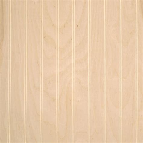 Wainscoting Panels Menards American Pacific 32 Quot X 48 Quot Unfinished Birch 2 Quot Beaded