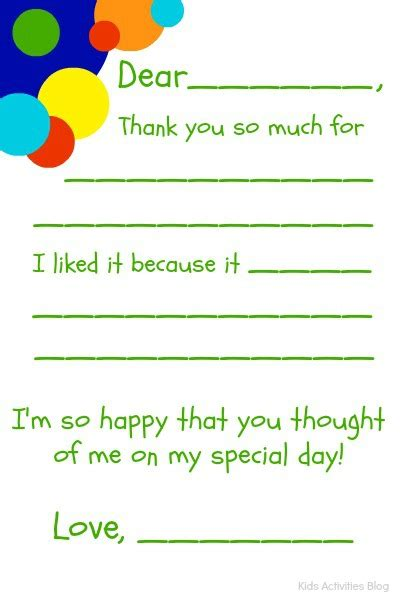 Free Printable Thank You Cards For To Fill In