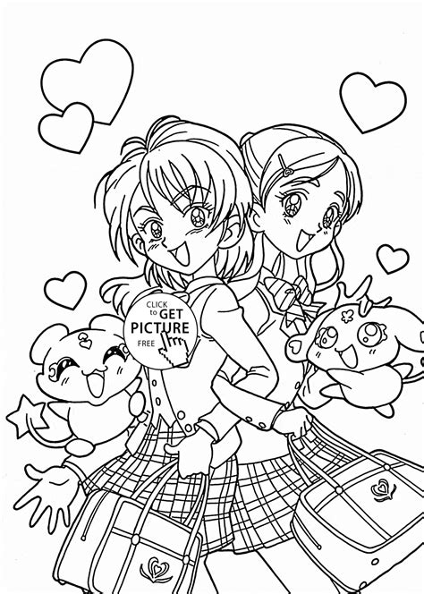 coloring pages of japanese symbols funny pretty cure anime coloring page for kids manga