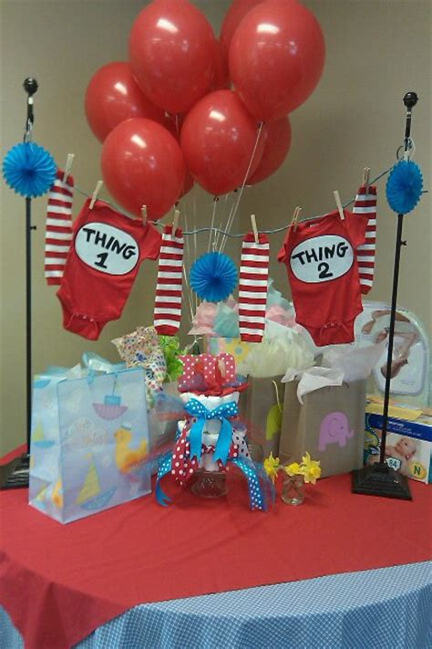 Thing 1 And Thing 2 Baby Shower by Thing 1 And Thing 2 Baby Shower Ideas Babywiseguides