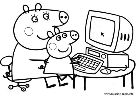 coloring page info peppa pig free coloring pages printable