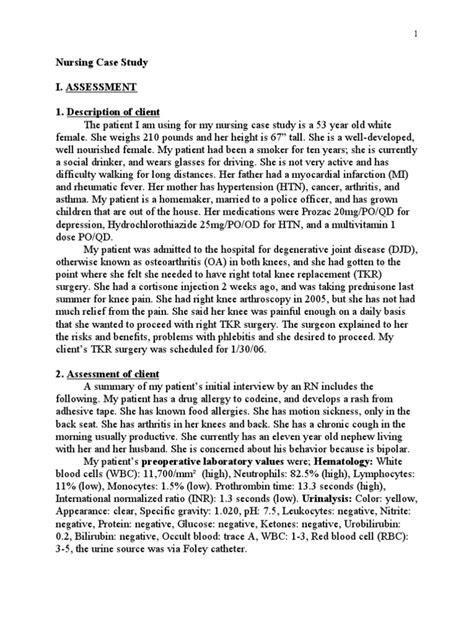 Patient Care Essay by Nursing Study Surgery Patient