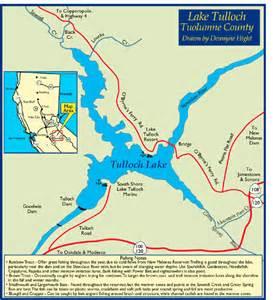 california lake map lake tulloch bass fishing information