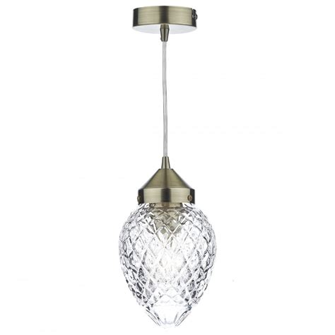 Victorian Style Small Hall Lantern With Acorn Cut Glass Shade Antique Glass Pendant Lights