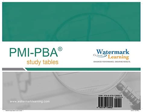 Pba Mba Requirements by Pmi Pba Success Series Flashcards By Tony Johnson