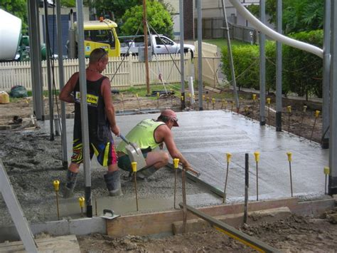 How To Lay A Concrete Slab For A Shed by Laying The Concrete Slab Photo