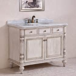 antique legion 47 inch white finish bathroom vanity white