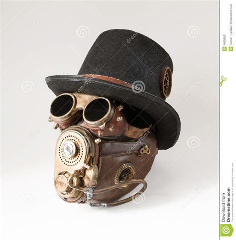 Masker Goggle steunk hat goggles and mask stock image image 40203621