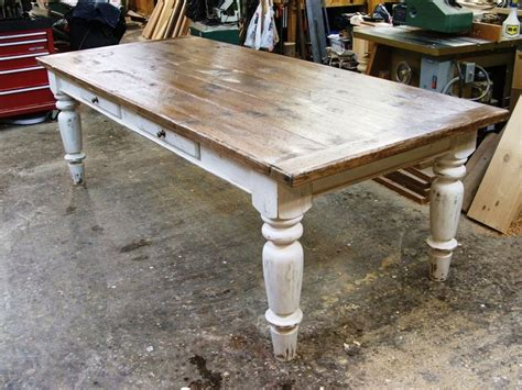 white scrubbed pine farmhouse table furniture redos
