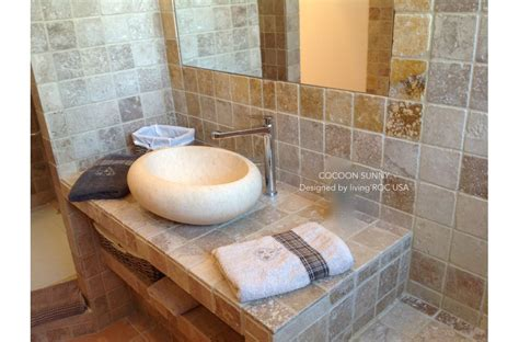sunny bathroom photo 19 quot oval egyptian marble stone vessel sink cocoon sunny