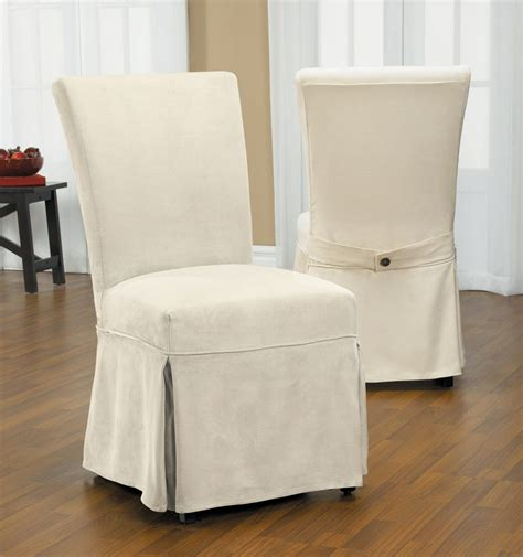 Linen Dining Room Chair Slipcovers Surefit Cotton Duck Dining Chair Slipcovers
