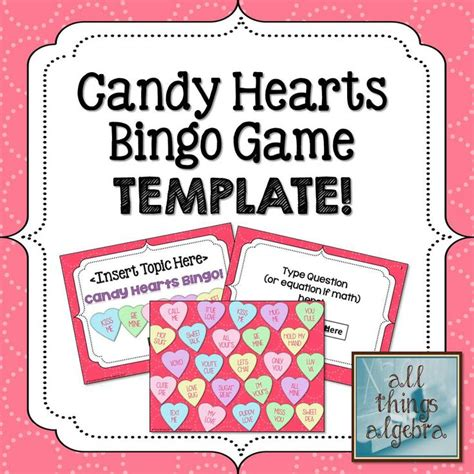 Conversation Hearts Bingo Cards Template by S Day Bingo Quotes