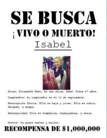 se busca wanted poster beginner middle by elizabeth