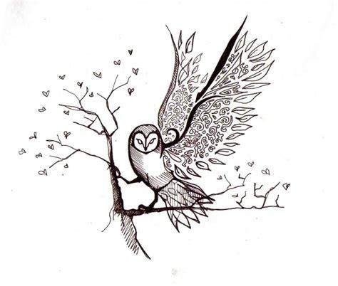 branch tattoo designs owl on branch design bird