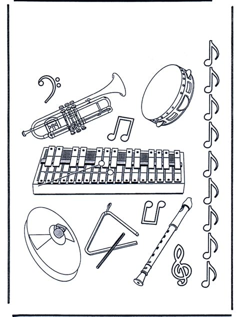Free Jazz Instruments Coloring Pages Jazz Coloring Pages