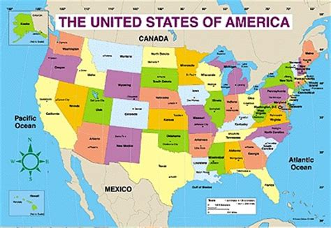 Map Of The United States 8 5 X 11 | united states of america map labeled pictures to pin on