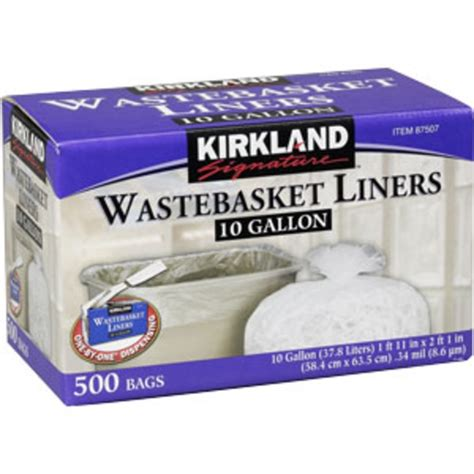 Kirkland Kitchen Bags by Kirkland Signature Wastebasket Liners 10 Gal From Costco Instacart