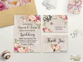 floral wedding invitation printable boho wedding
