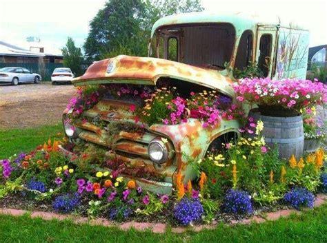 Garden Trucking by Truck With Flowers Great Garden Ideas