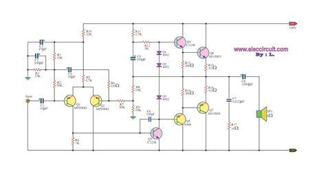 2n3055 transistor switch otl 100w power lifier 2n3055 electronic circuit