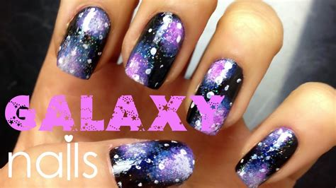 galaxy nail art tutorial easy easy galaxy nail art tutorial for beginners youtube