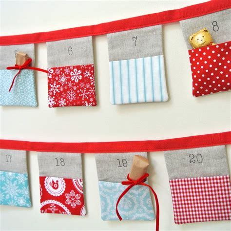 Advent Calendar Handmade - handmade bunting advent calendar and blue by sew