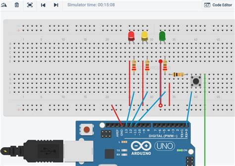 code arduino traffic light simulate and test arduino projects with 123d circuits