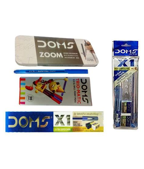 Buy 4 All 10 Box Free Travel Kit Lolli combo pack of doms x1 pencils doms zoom geometry box doms x1 primium kit doms trio matic