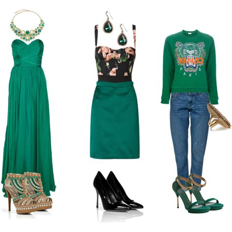 would you wear it emerald green polyvore