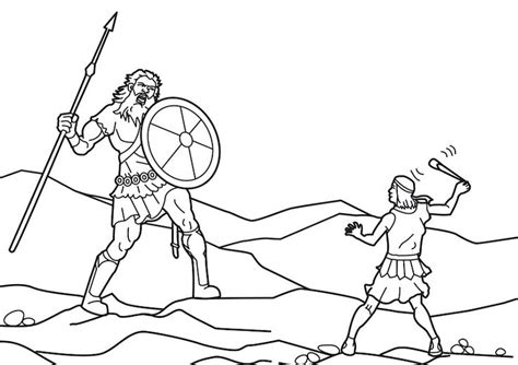 david and goliath coloring pages sunday school 1st and