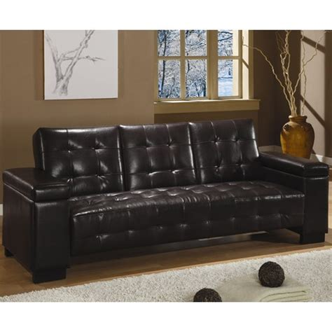 dark brown leather sofa bed coaster dark brown faux leather convertible sofa bed w