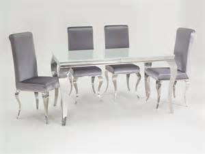 Chairs Dining Table New Stunning Lacene White Glass 160cm Dining Table Silver Velvet Dining Chairs Ebay